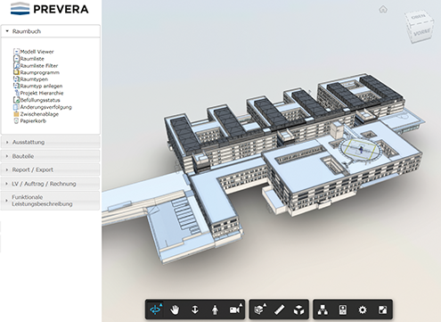 PREVERA Building Information Datenbank - BIM Viewer und BIM-Integration