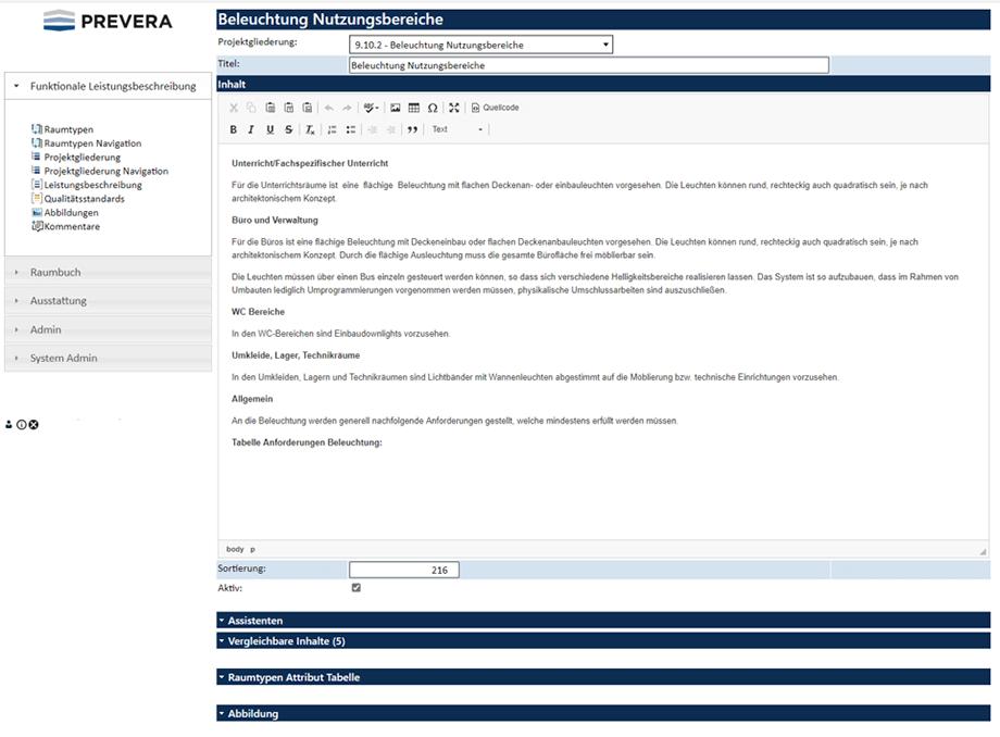 FLB Funktionale Leistungsbeschreibung PREVERA