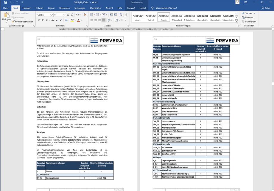 FLB Prevera Funktional Leistungsbeschreibung